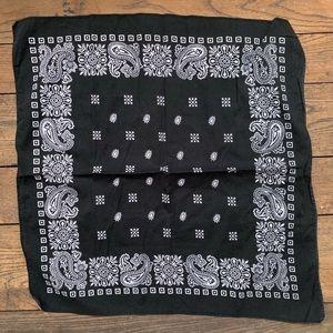Vintage Geometric Paisley Cotton Bandana
